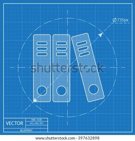 Document folders business blueprint icon stock vector 397632898 document folders business blueprint icon malvernweather Choice Image