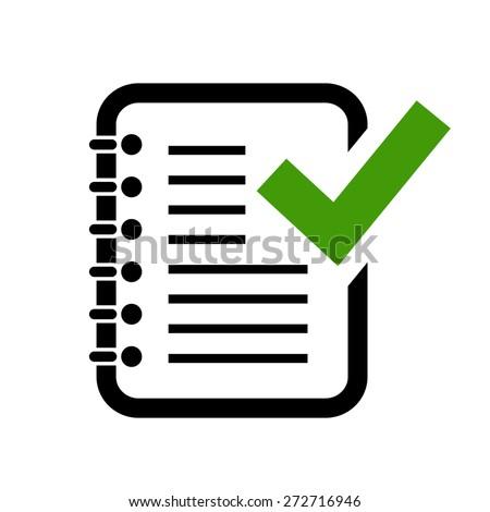 Document grammar control icon - stock vector