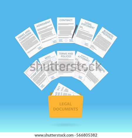 Document Icon Contract Business Agreement Legal Stock Vector