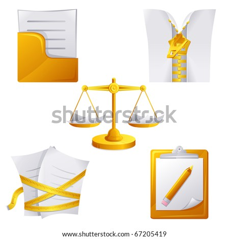 Document icon set. Vector illustrations - stock vector