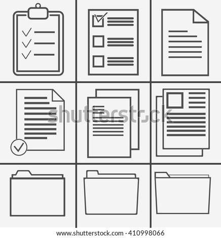 Document Icon Vector. Document Icon JPEG. Document Icon Picture. Document Icon Image. Document Icon Graphic. Document Icon JPG. Document Icon EPS. Document Icon AI. Document Icon Drawing - stock vector