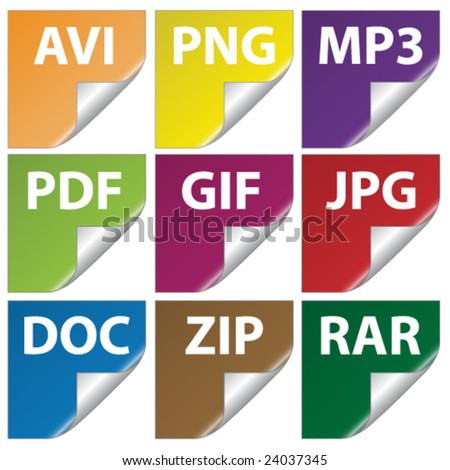 document icons - stock vector