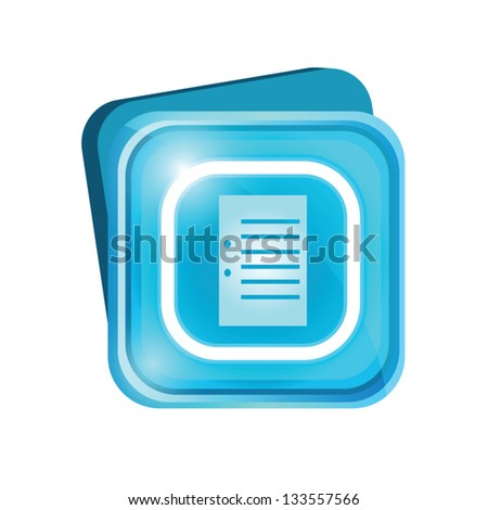 Document sign - stock vector