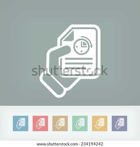 Document timing - stock vector