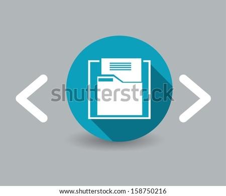 documentation icon - stock vector