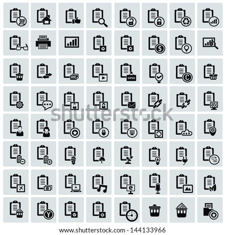 Documents icon for business set,vector - stock vector