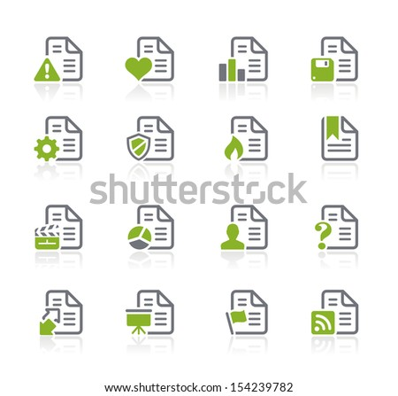 Documents Icons - 2 of 2 // Natura Series - stock vector