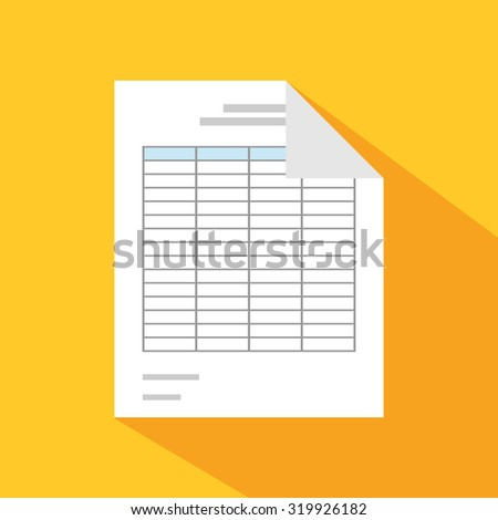 Documents icons. Report. Spreadsheet. - stock vector