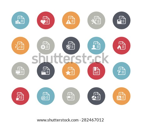 Documents Icons Set 2 of 2 // Classics Series - stock vector