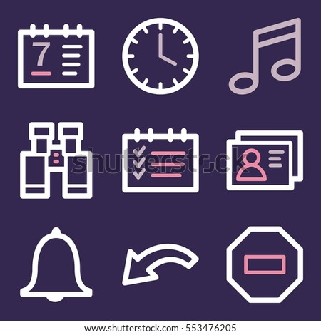 Documents Web Icons Set Office Crm Stock Vector 553476205 Shutterstock