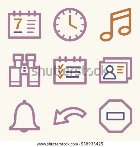 Documents Web Icons Set Office Crm Stock Vector 558935425 Shutterstock