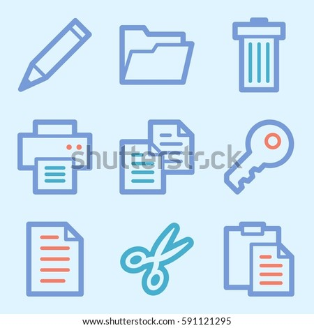 Documents Web Icons Set Office Crm Stock Vector 591121295 Shutterstock