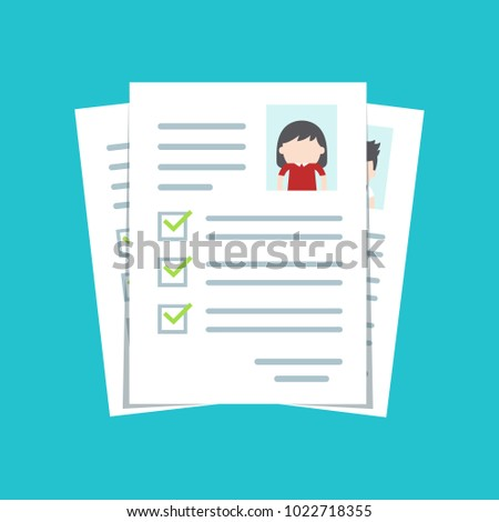 Documents Personal Data Cv Resume Template Stock Vector 1022718355 ...