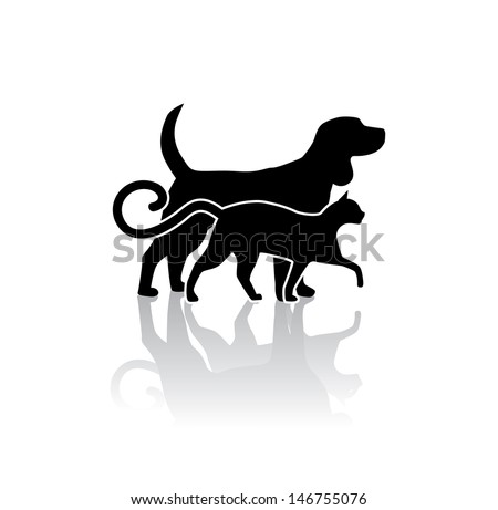 Dog and cat veterinary icon. EPS 10 vector, grouped for easy editing. No open shapes or paths. - stock vector