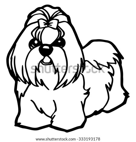 Dog Puppy Coloring Page Stock Vector 333193178 - Shutterstock
