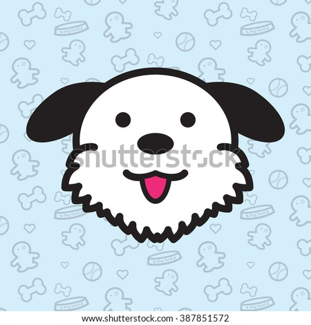 Dog and Puppy Vector and Icon Portrait of Jack Russell Set 2 - stock vector