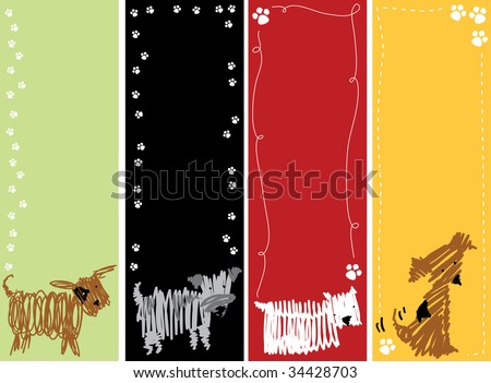 Dog banners - stock vector