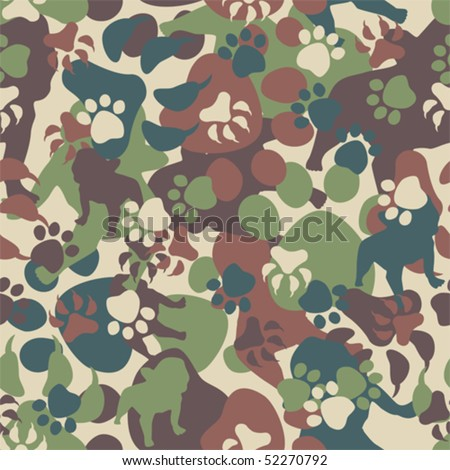 Dog Camouflage Pattern - stock vector