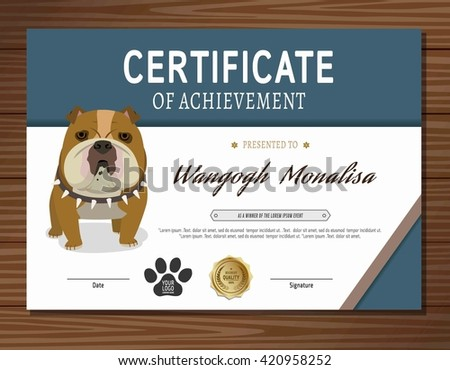 Dog graduation stock images royalty free images vectors for Dog show certificate template