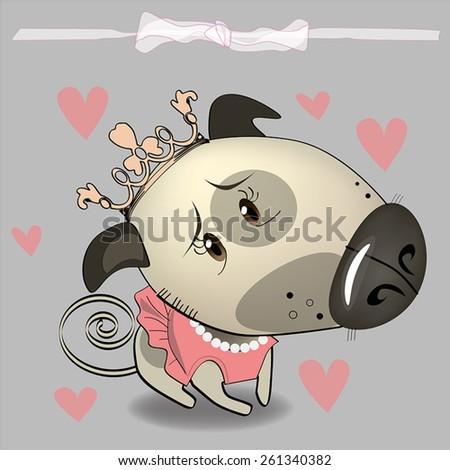 Dog characters. Cartoon styled vector illustration.  - stock vector