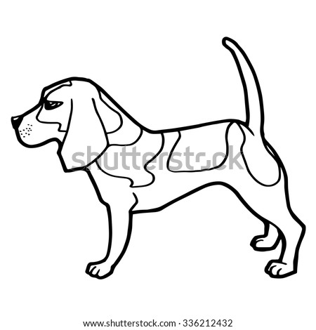 Dog Coloring Book Vector Stock Vector 336212432 - Shutterstock