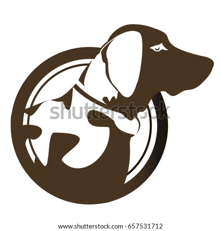 Dog head cartoon vector