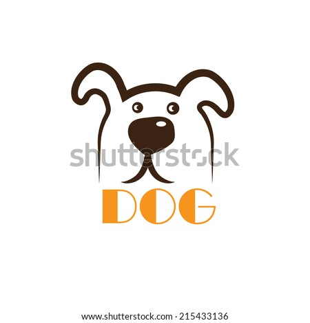 dog head icon vector - stock vector