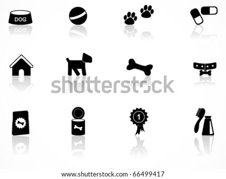 Dog icon set - stock vector