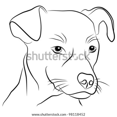 dog isolated on white background - freehand, vector illustration - stock vector