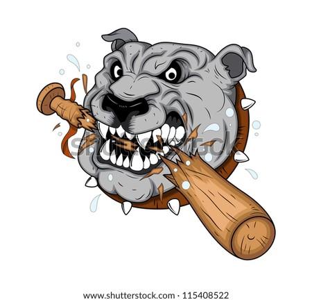 Dog Mascot tattoo Vector - stock vector