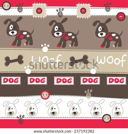 dog pattern vector illustration - stock vector
