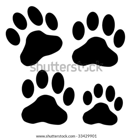 dog paw - stock vector