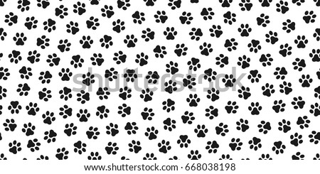 Dog Paw Cat Kitten Vector Seamless Pattern Wallpaper