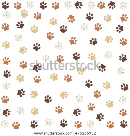 dog paw print pattern vector illustration stock vector 475166932 rh shutterstock com Wolf Paw Print Clip Art Lion Paw Print Clip Art