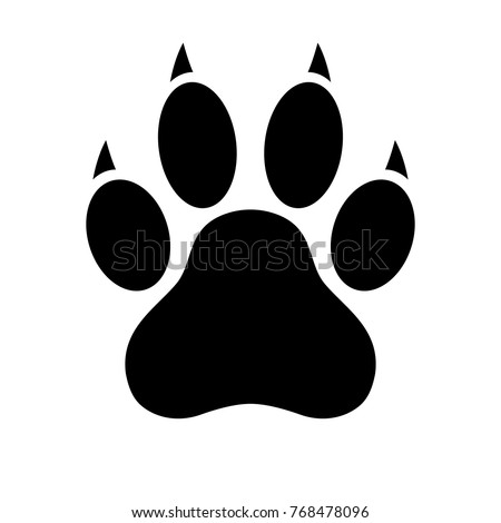 dog paw print stock images royalty free images vectors shutterstock. Black Bedroom Furniture Sets. Home Design Ideas