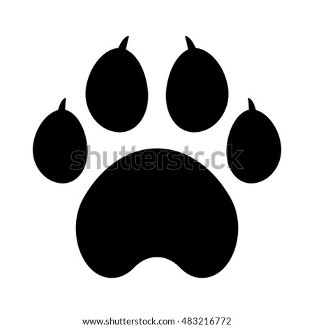 dog paw print web icon vector stock vector 483216772 shutterstock rh shutterstock com dog paw print vector free download dog paw print vector png