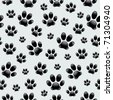 Dog's Footprints-Seamless Pattern - stock vector