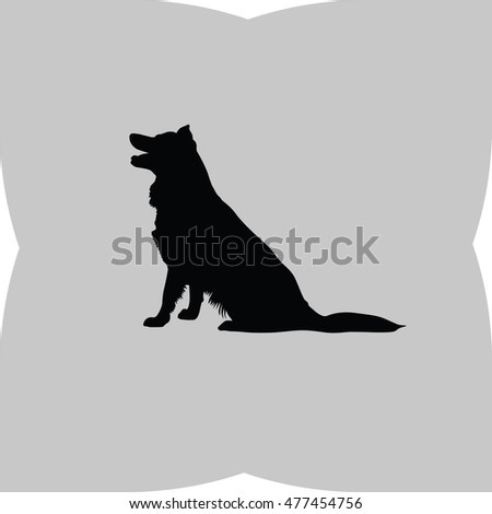 Howling Dog Silhouette