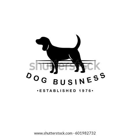 Super Dog Silhouette Logo Pet Business Pet Stock Photo (Photo, Vector  UK23