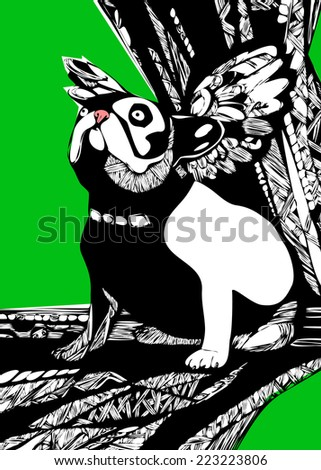 dog silhouette vector wings graphics unusual pedigree