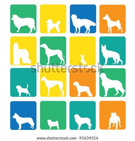 Dog species icon - stock vector