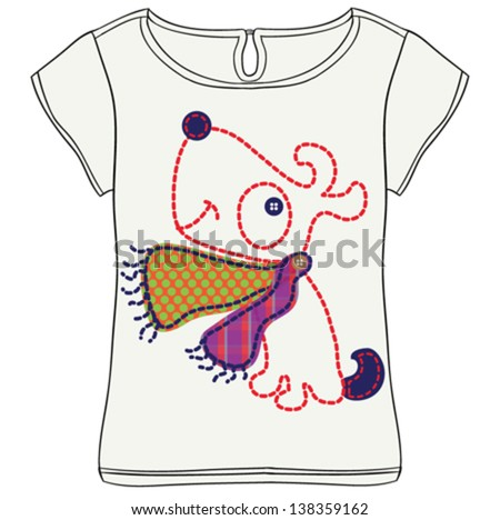 dog/T-shirt graphics/cute cartoon characters/cute graphics for kids/Book illustrations/textile graphic/graphic designs for kindergarten/cartoon character design/fashion graphic/cute wallpaper - stock vector