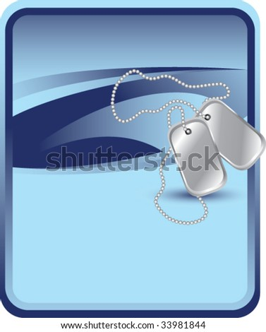 dog tags on classic clean background