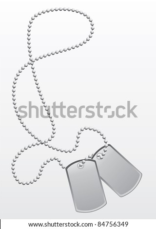 Dog tags vector image - stock vector