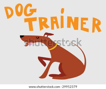 Dog Trainer - Vector Illustration - stock vector
