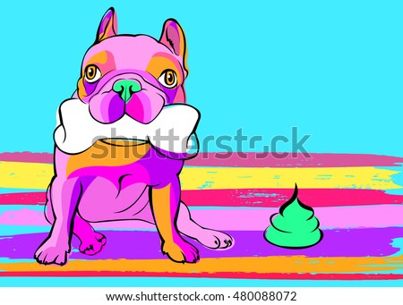 dog  vector  breed  cute  pet  animal  bulldog  french. Dog Toilet Stock Vectors  Images   Vector Art   Shutterstock