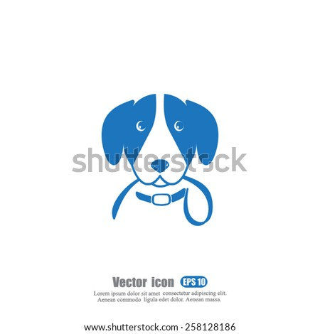 dog  vector icon - stock vector