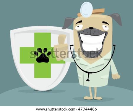 Dog vet. - stock vector