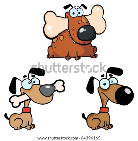 Dogs Collection - stock vector