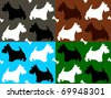 dogs seamless background - stock vector